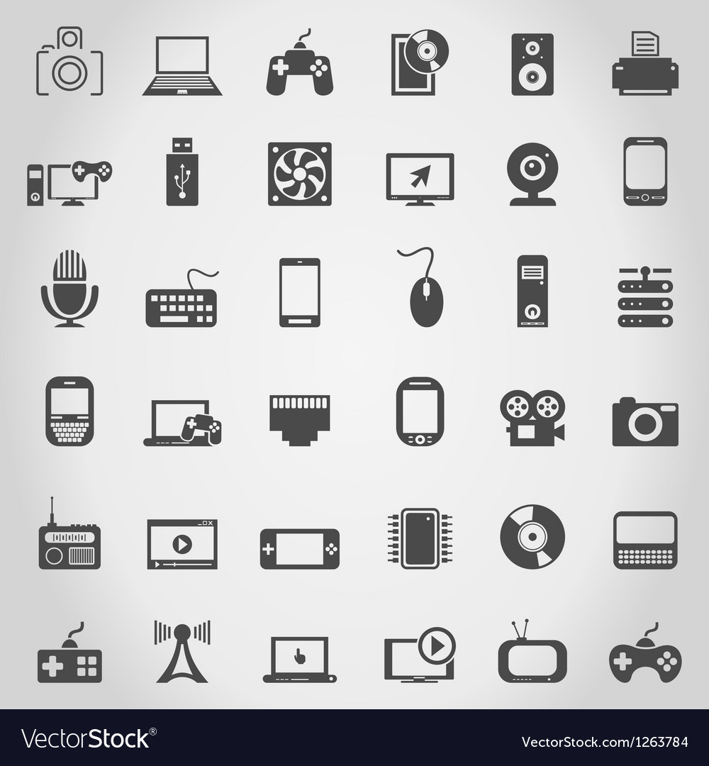 Electronics an icon vector | Price: 1 Credit (USD $1)