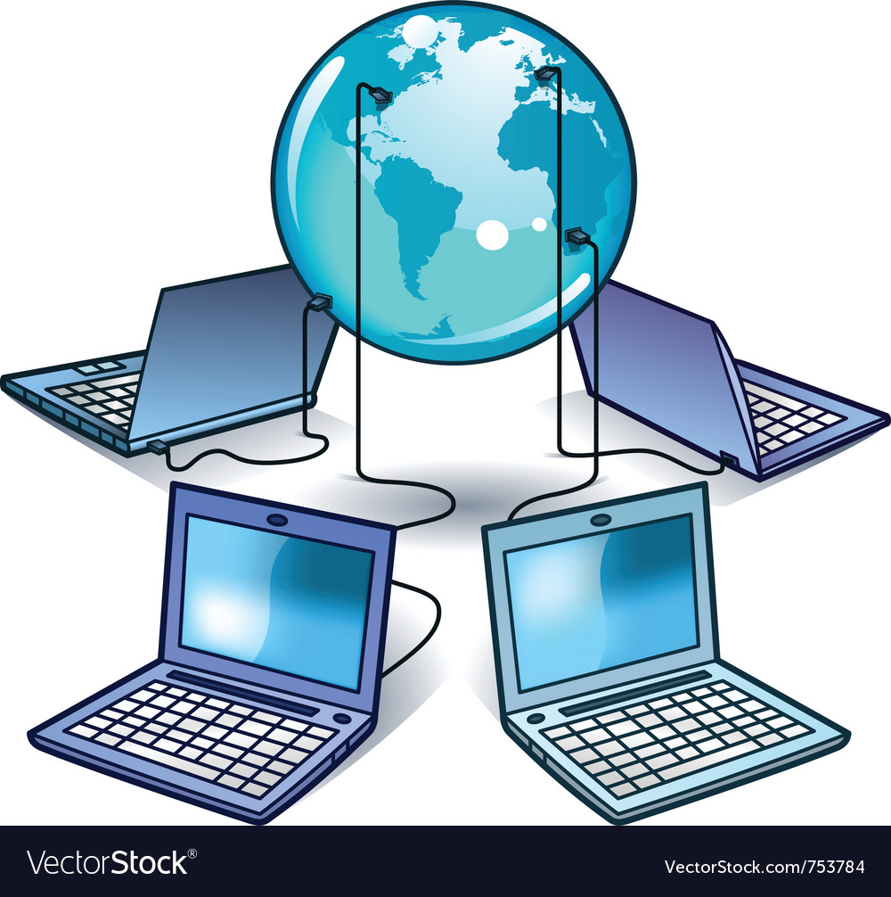 Global computer network vector | Price: 1 Credit (USD $1)