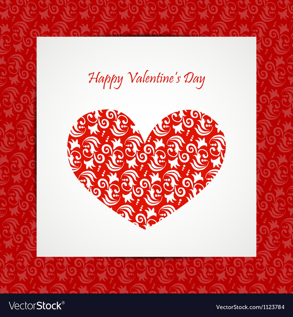 Valentine day card eps10 vector | Price: 1 Credit (USD $1)