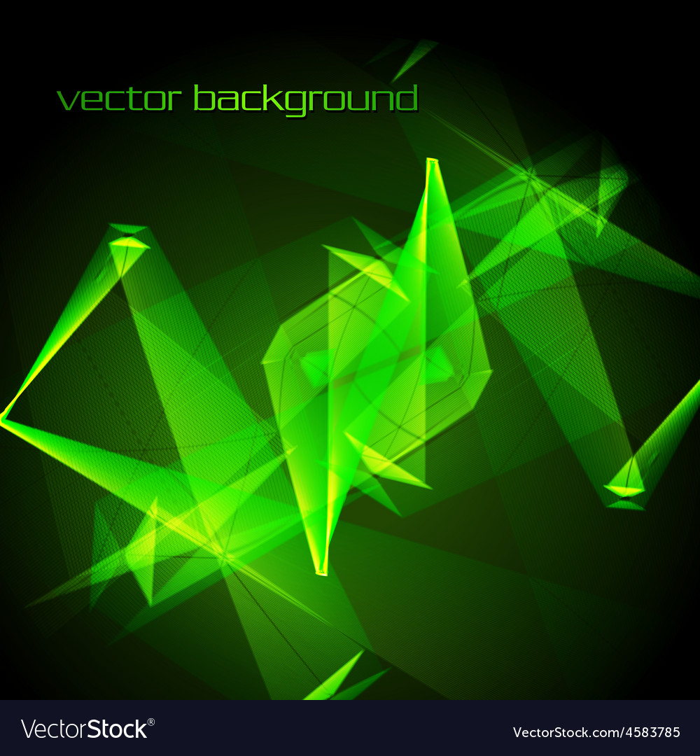 Abstract green glowing background vector | Price: 1 Credit (USD $1)