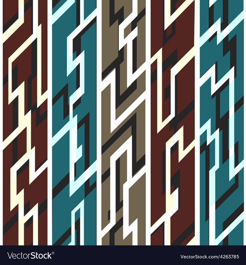 Ancient geometric seamless pattern vector | Price: 1 Credit (USD $1)