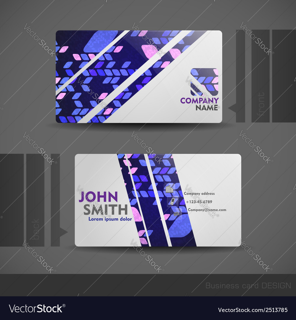 Business card design vector | Price: 1 Credit (USD $1)