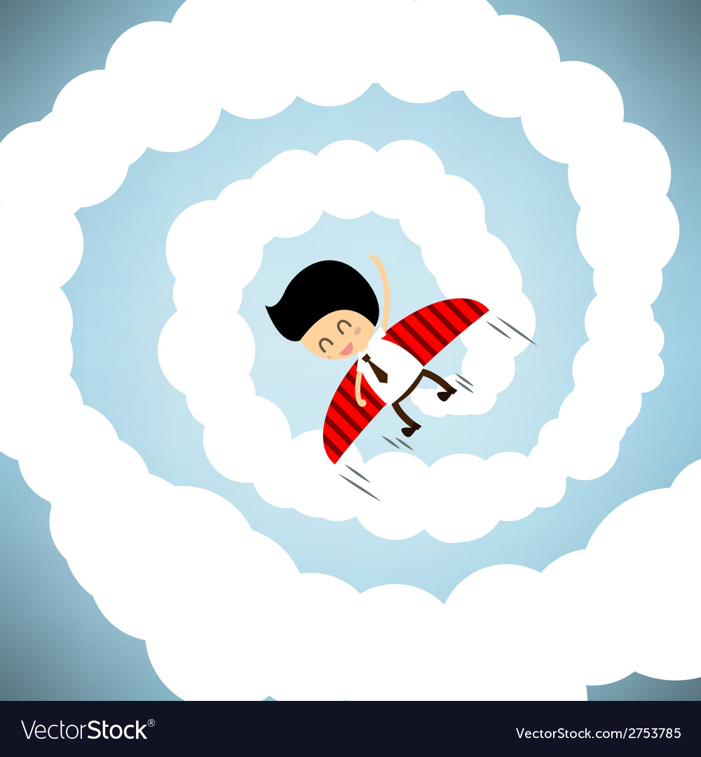 Businessman rocket flying with wings eps10 vector | Price: 1 Credit (USD $1)