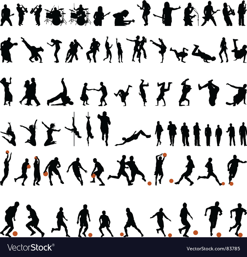 Dance and sport set vector | Price: 1 Credit (USD $1)