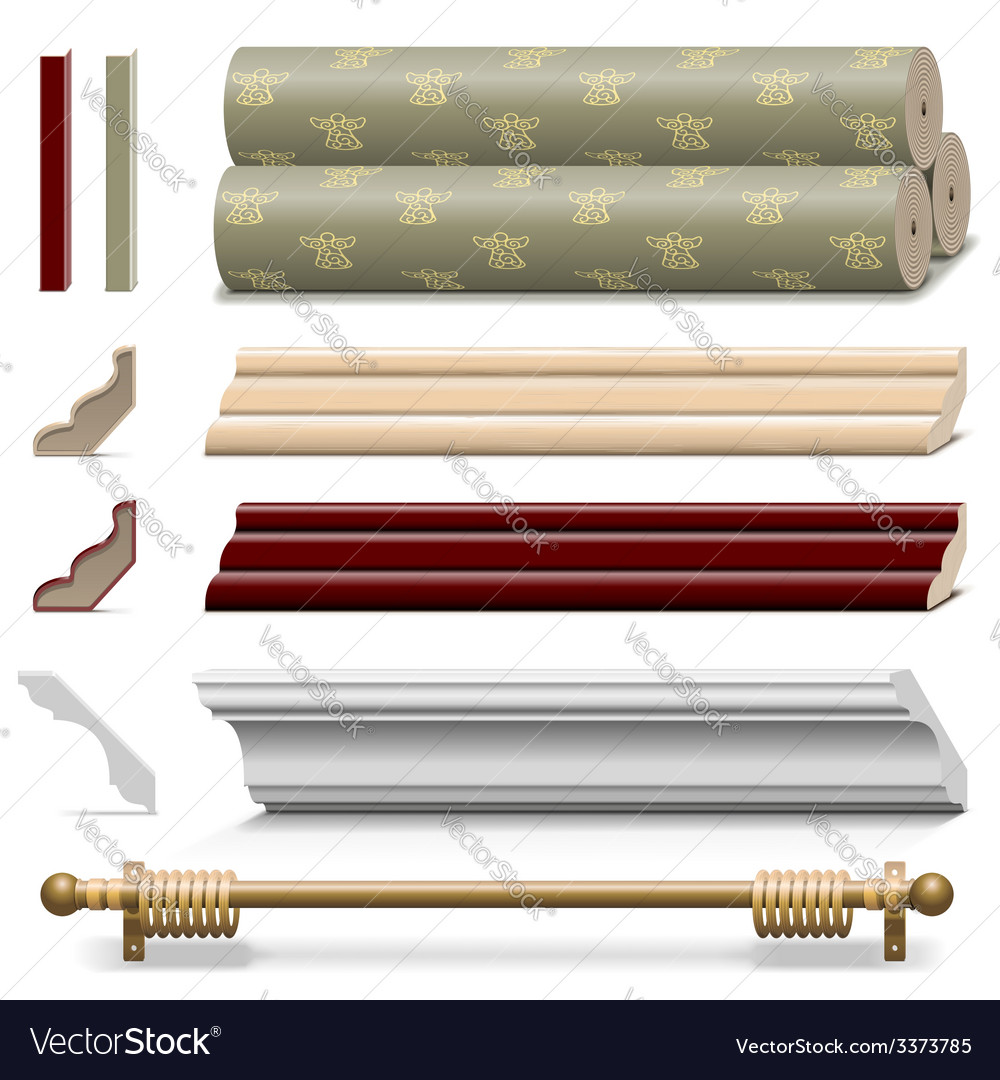 Finishing wall materials vector | Price: 3 Credit (USD $3)