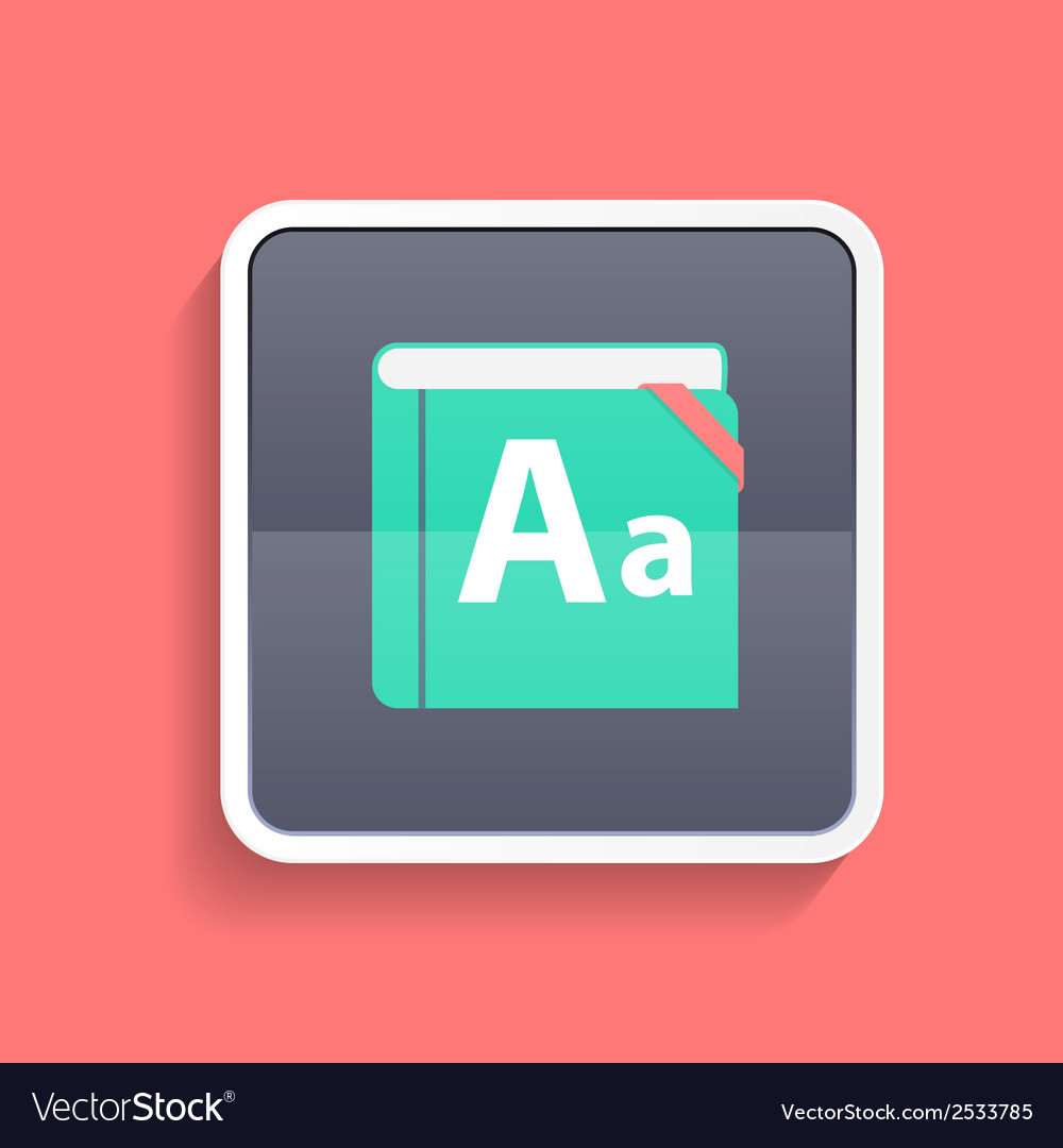 Flat dictionary icon vector | Price: 1 Credit (USD $1)