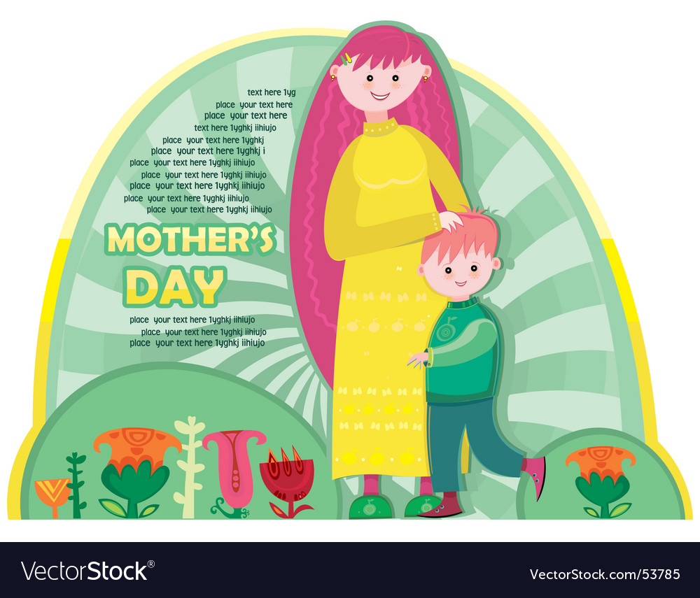 Happy mother's day vector | Price: 1 Credit (USD $1)
