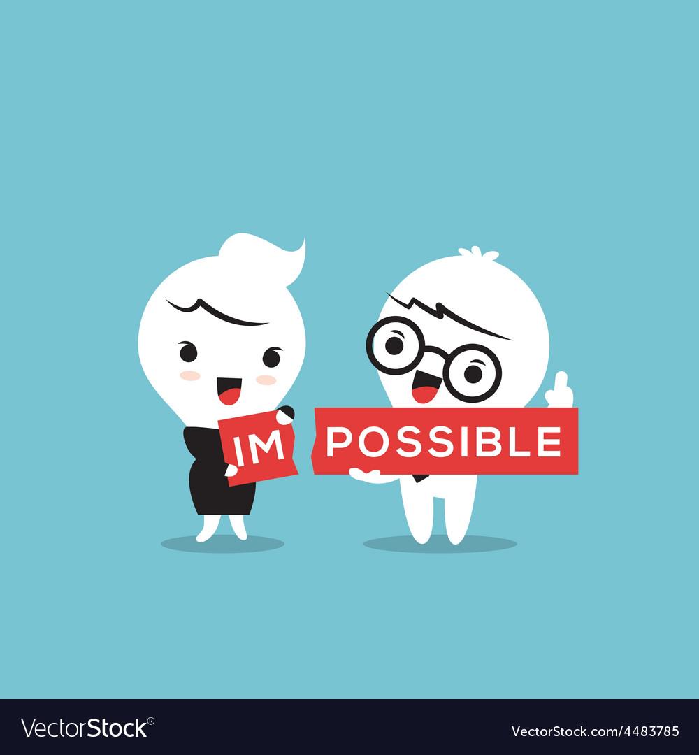 Impossible cartoon vector | Price: 1 Credit (USD $1)