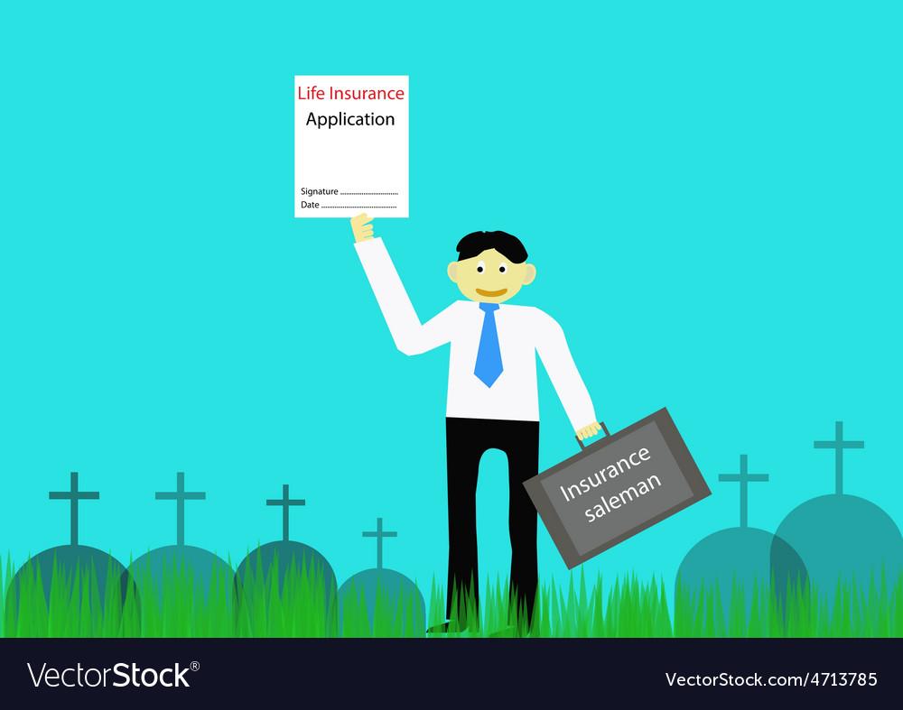 Insurance saleman vector | Price: 1 Credit (USD $1)