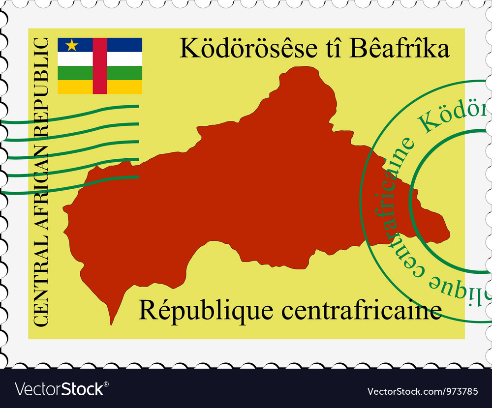 Mail to-from central african republic vector | Price: 1 Credit (USD $1)
