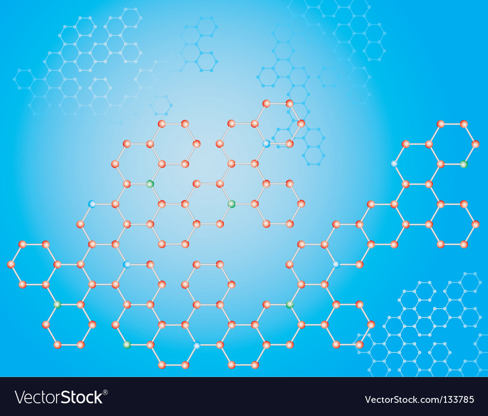 Molecular background vector | Price: 1 Credit (USD $1)
