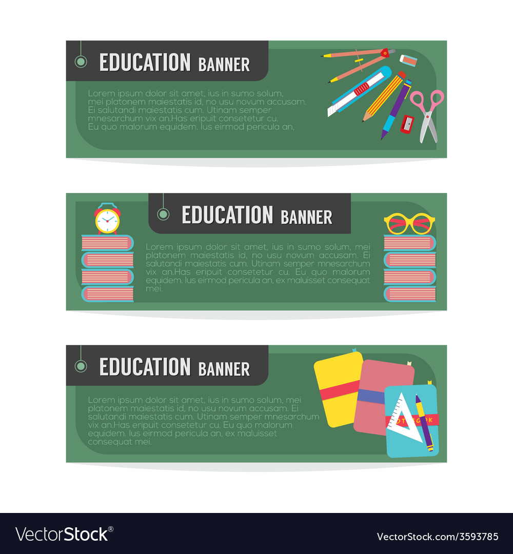 Set of education banner vector | Price: 1 Credit (USD $1)