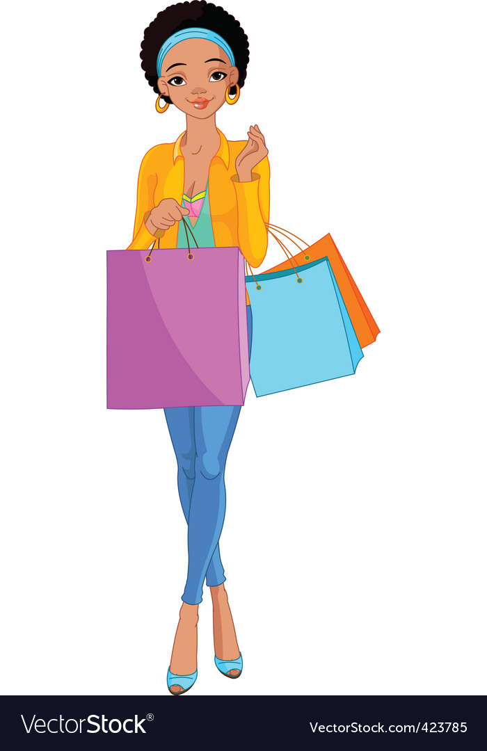 Shopping diva vector | Price: 3 Credit (USD $3)