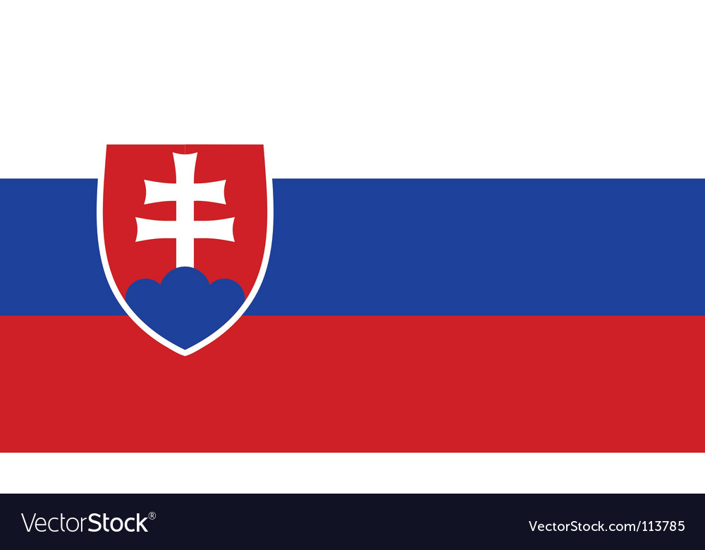 Slovakia flag vector | Price: 1 Credit (USD $1)