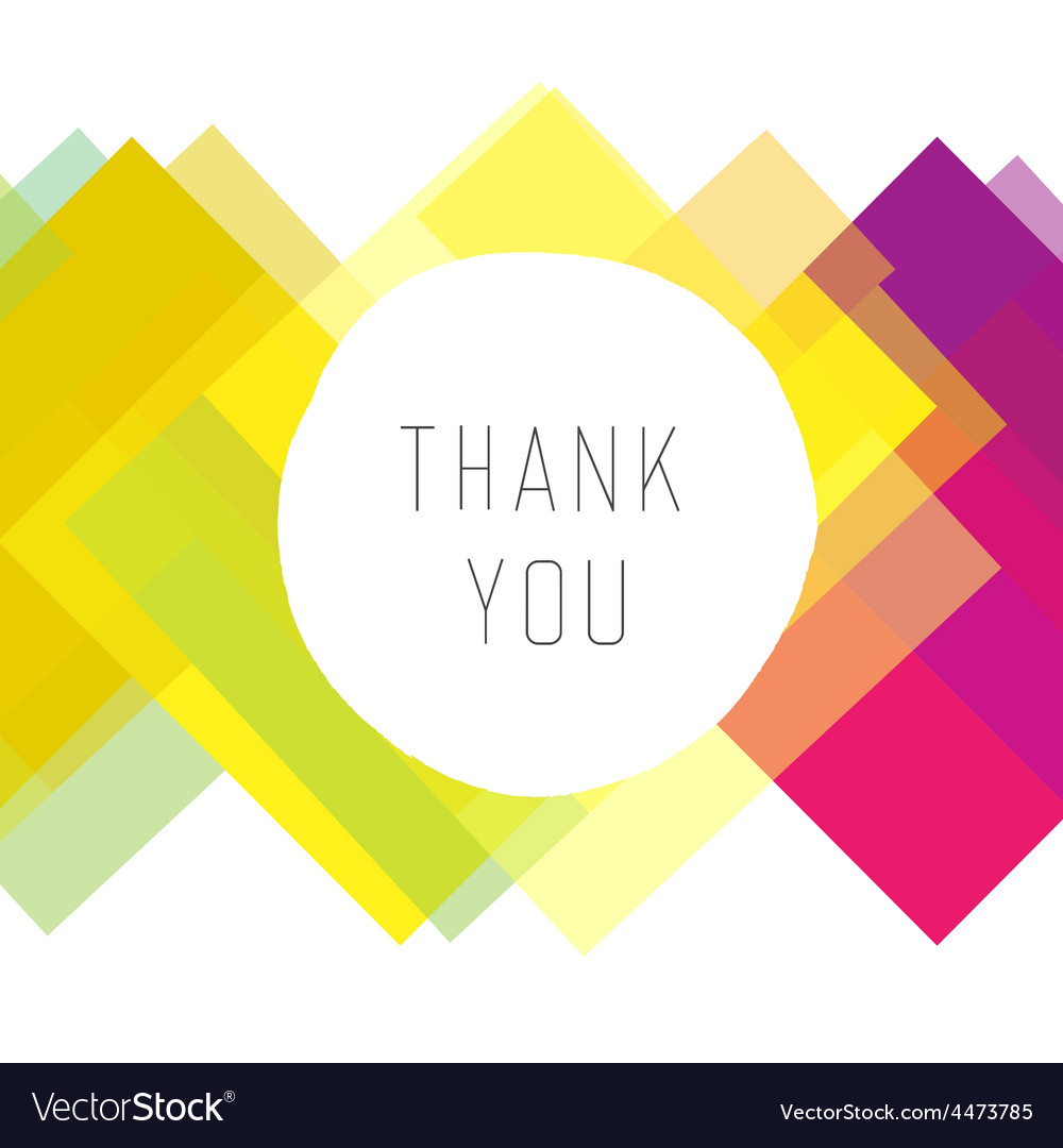 Thank you colorful design vector | Price: 1 Credit (USD $1)