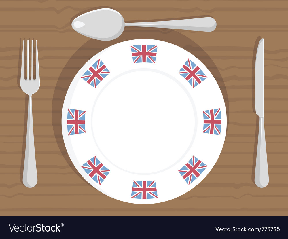 Uk dinner plate vector | Price: 3 Credit (USD $3)