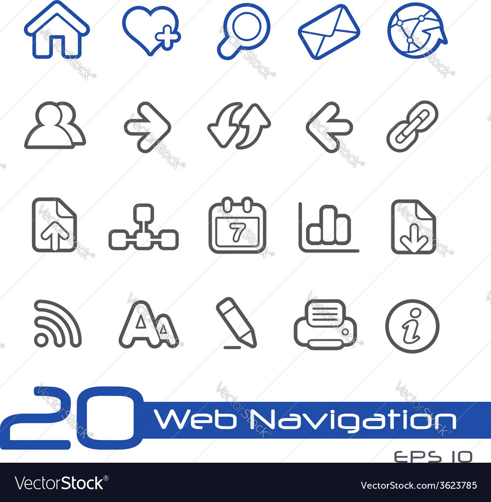 Web navigation outline series vector | Price: 1 Credit (USD $1)