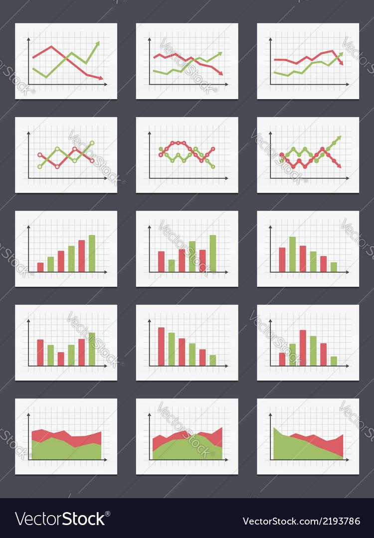Charts vector | Price: 1 Credit (USD $1)