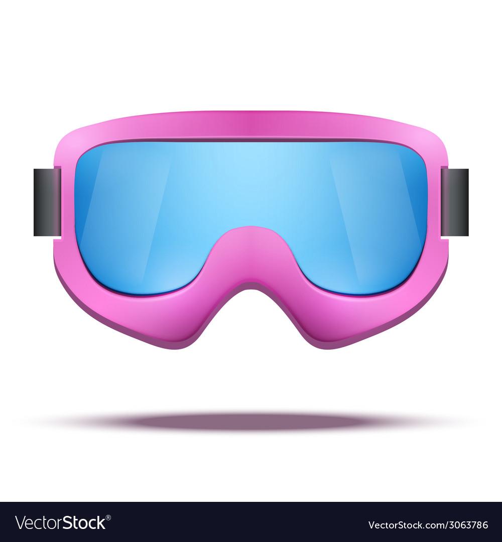 Classic vintage old school pink snowboard ski vector | Price: 1 Credit (USD $1)