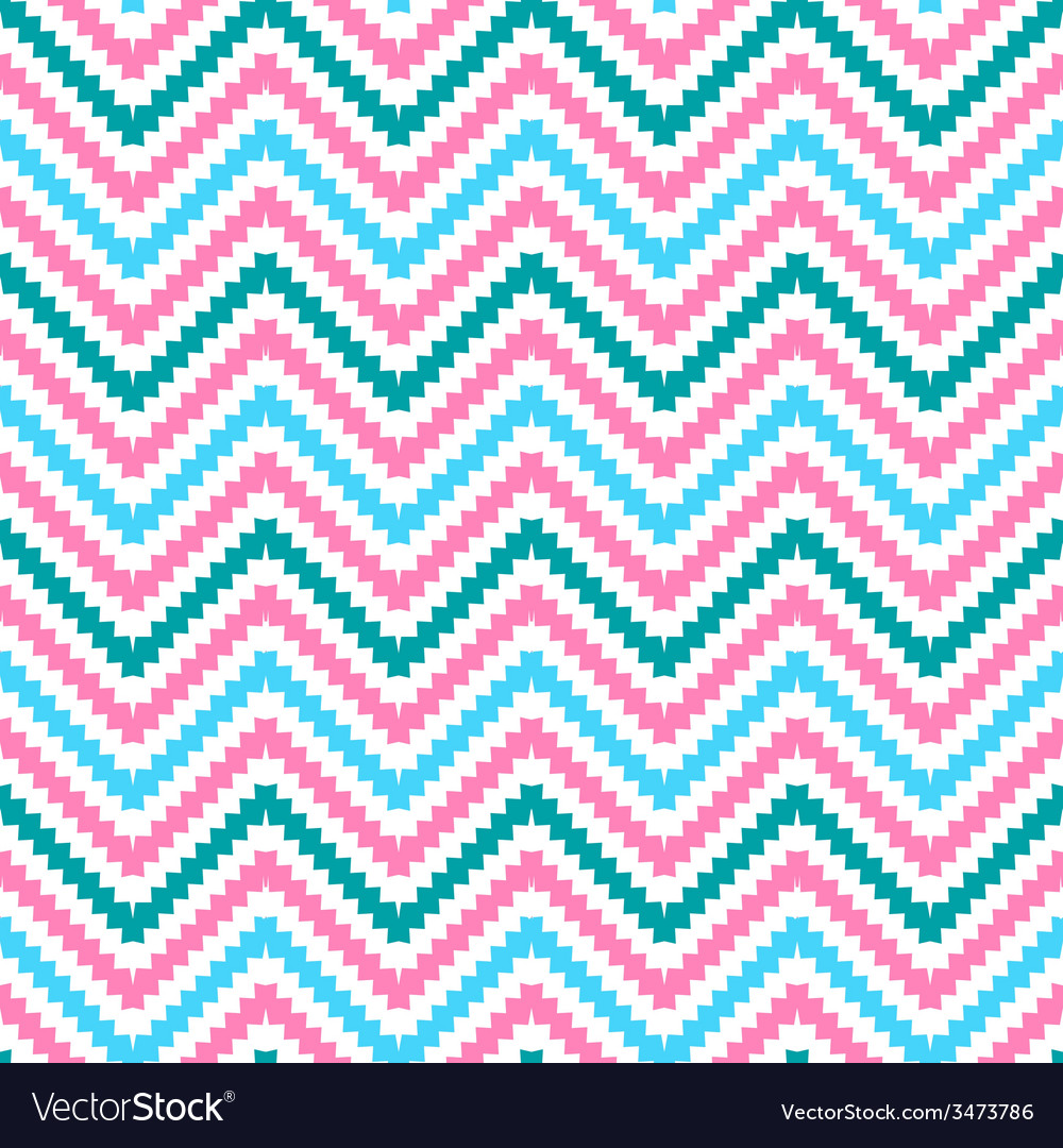 Cute tribal zig zag seamless pattern vector | Price: 1 Credit (USD $1)