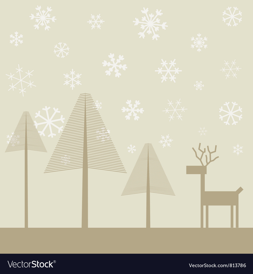 Deer in wood2 vector | Price: 1 Credit (USD $1)