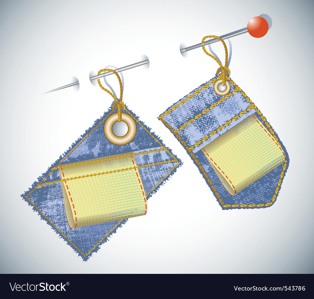 Denim garment tag vector | Price: 1 Credit (USD $1)