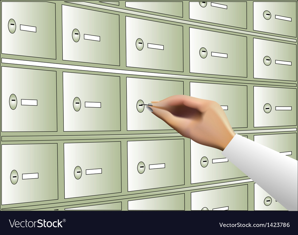Deposit box vector | Price: 1 Credit (USD $1)