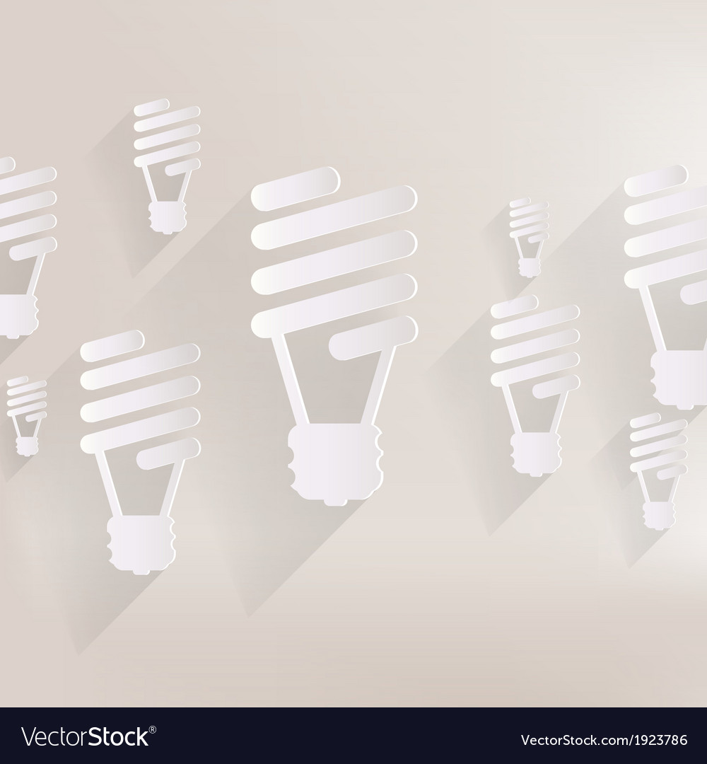 Energy saving light bulb vector | Price: 1 Credit (USD $1)
