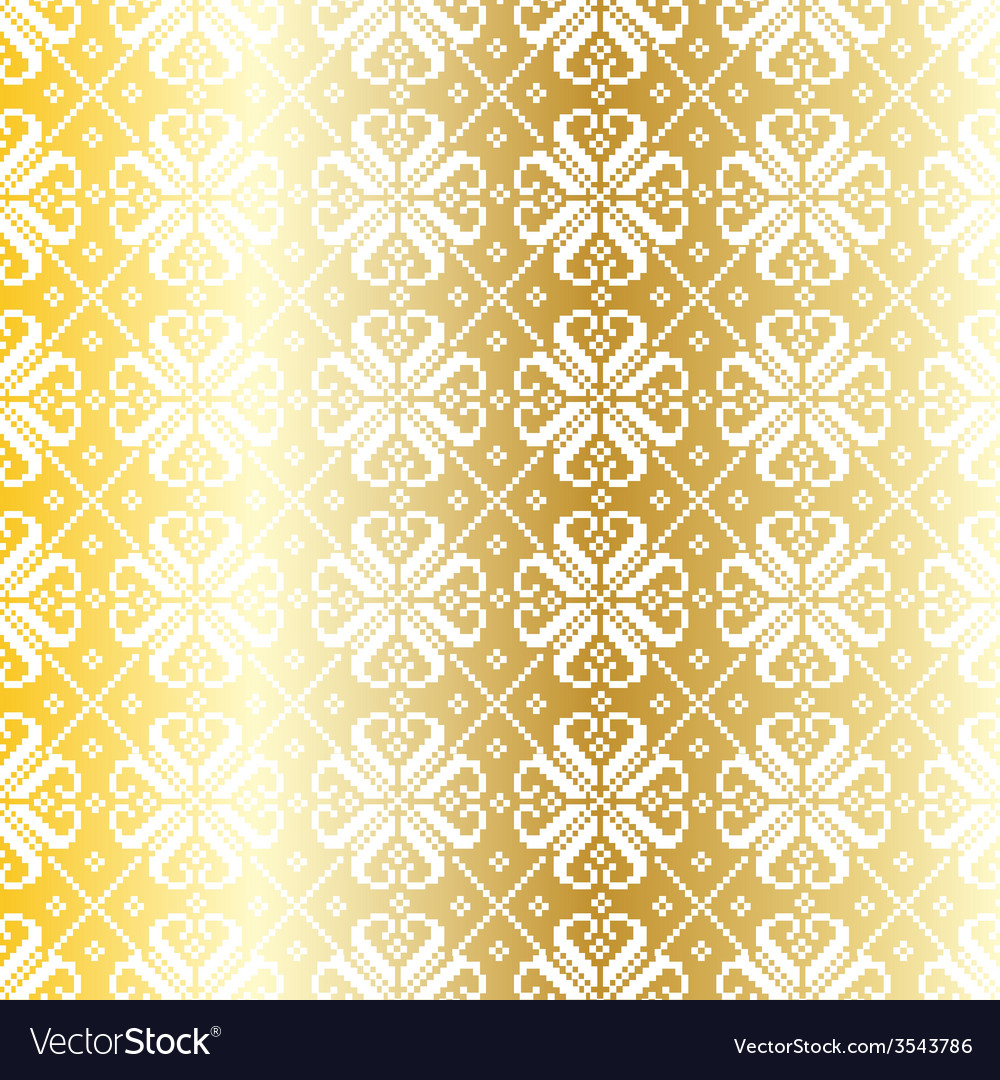 Gold nordic pattern vector | Price: 1 Credit (USD $1)