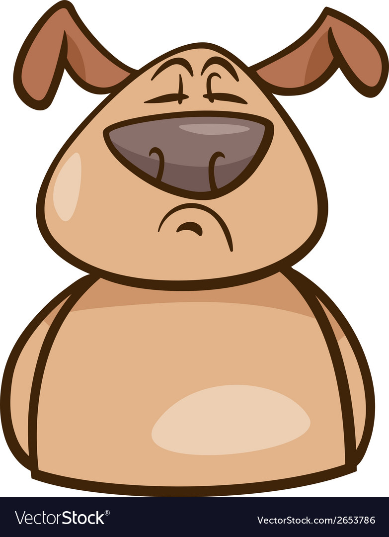 Mood proud dog cartoon vector | Price: 1 Credit (USD $1)