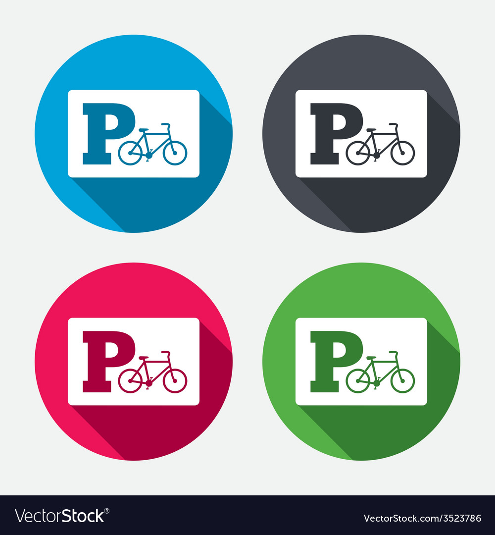 Parking sign icon bicycle parking symbol vector | Price: 1 Credit (USD $1)