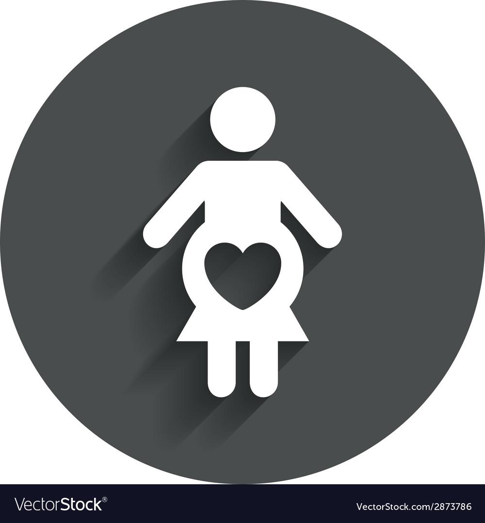 Pregnant sign icon pregnancy symbol vector | Price: 1 Credit (USD $1)