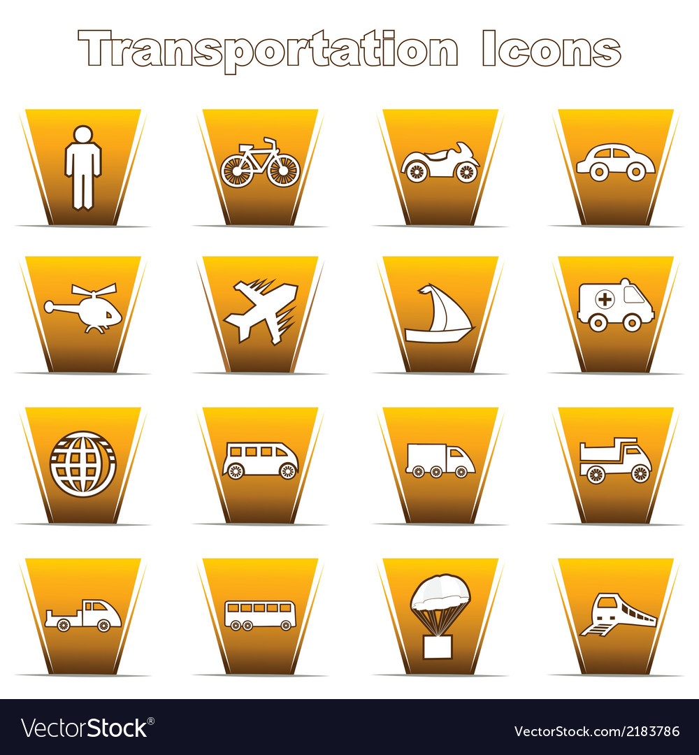 Set of transportational icons vector | Price: 1 Credit (USD $1)