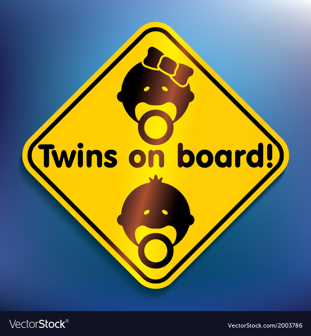 Twins on board sticker vector | Price: 1 Credit (USD $1)