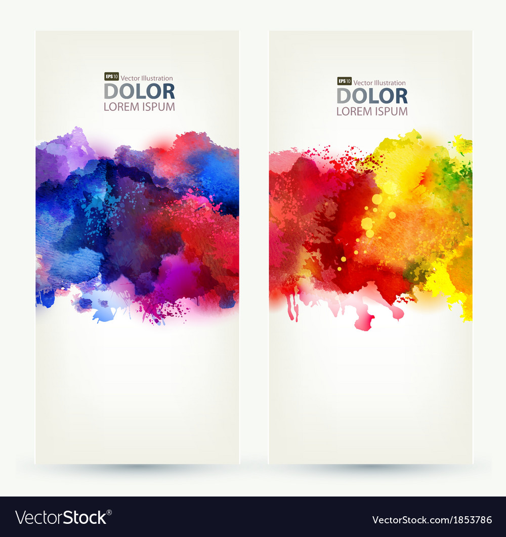 Two headers vector | Price: 1 Credit (USD $1)