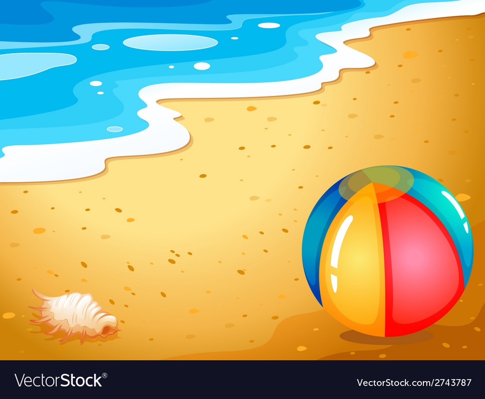 A ball at the beach vector | Price: 3 Credit (USD $3)