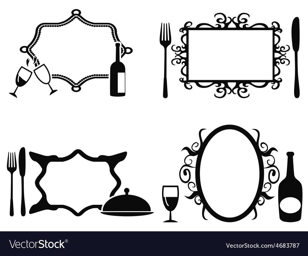 Blank menu frames set vector   Price: 1 Credit (USD $1)
