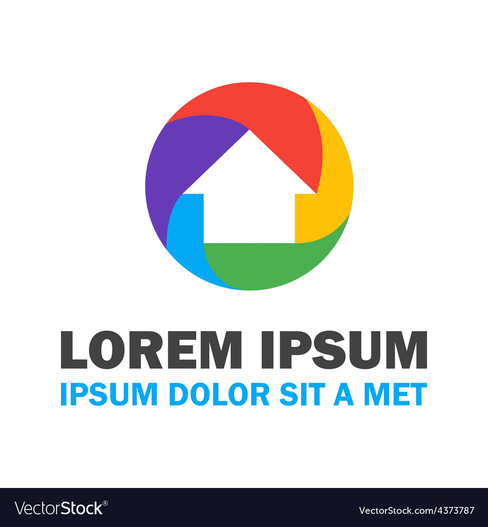 Colorful house logo vector   Price: 1 Credit (USD $1)