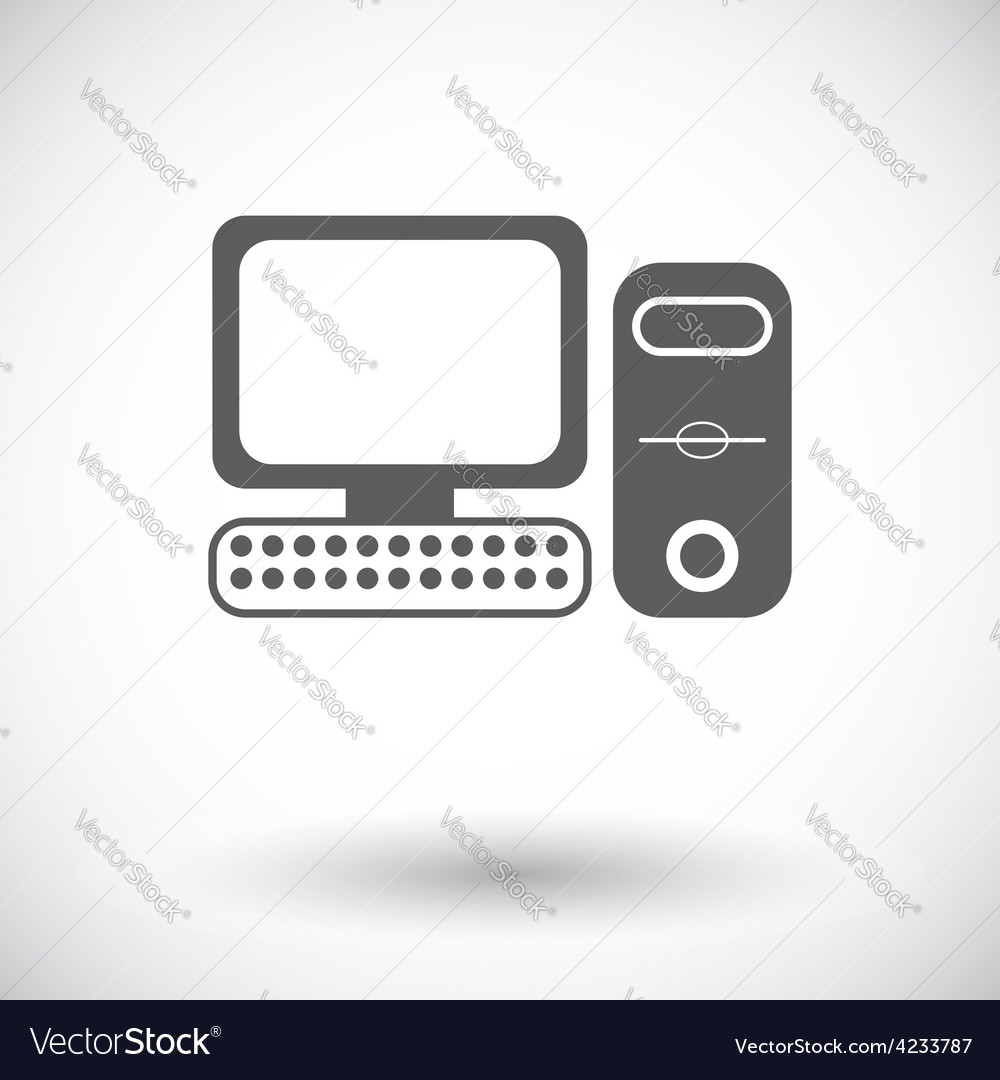 Computer flat icon 2 vector | Price: 1 Credit (USD $1)