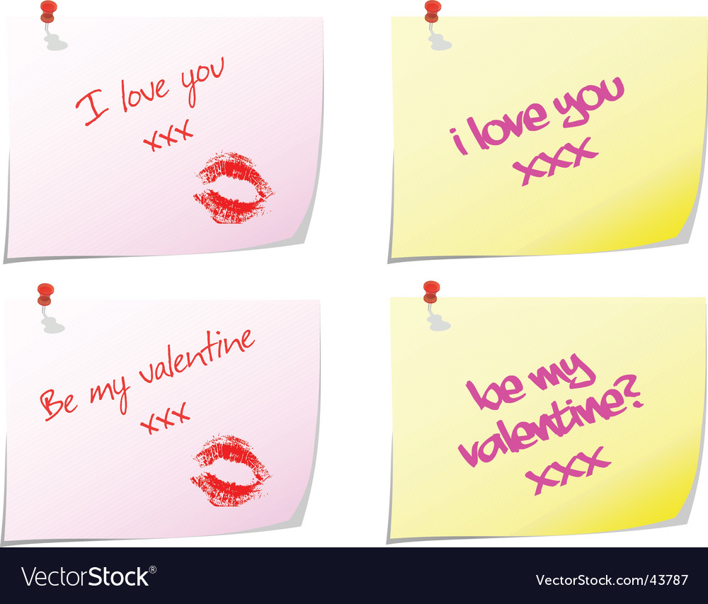 Love notes vector | Price: 1 Credit (USD $1)