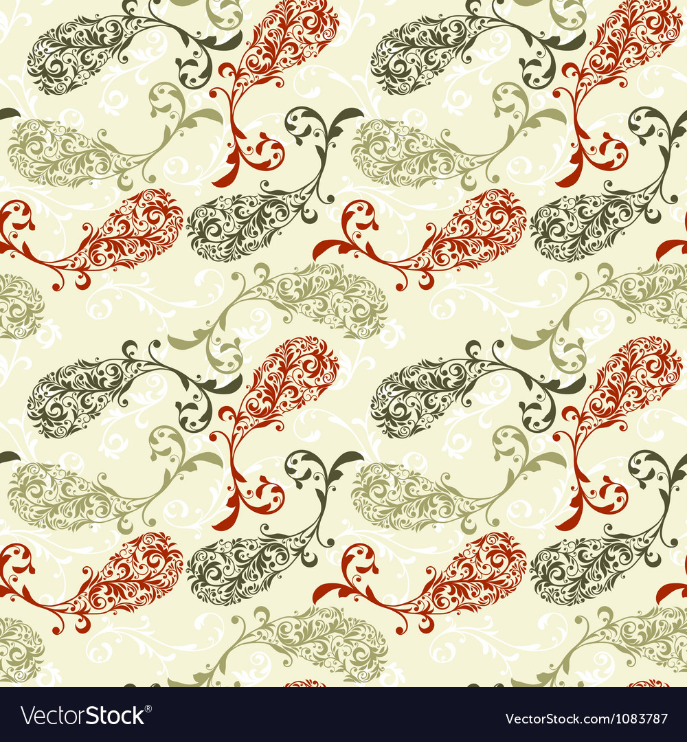 Seamless paisley vector | Price: 1 Credit (USD $1)