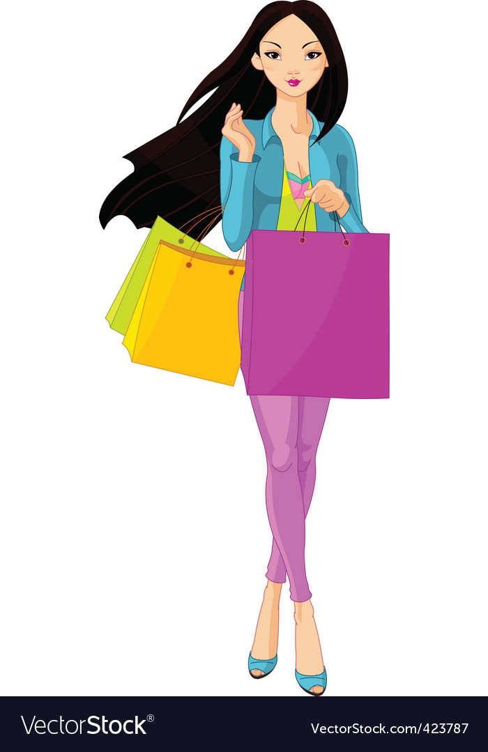 Shopping diva vector | Price: 3 Credit (USD $3)