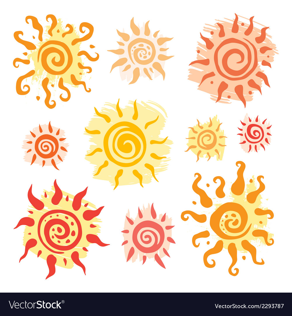 Sun set hand drawn vector | Price: 1 Credit (USD $1)