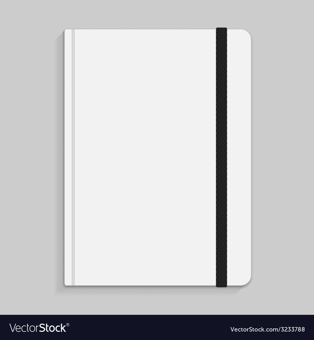 Black copybook with elastic band bookmark vector | Price: 1 Credit (USD $1)