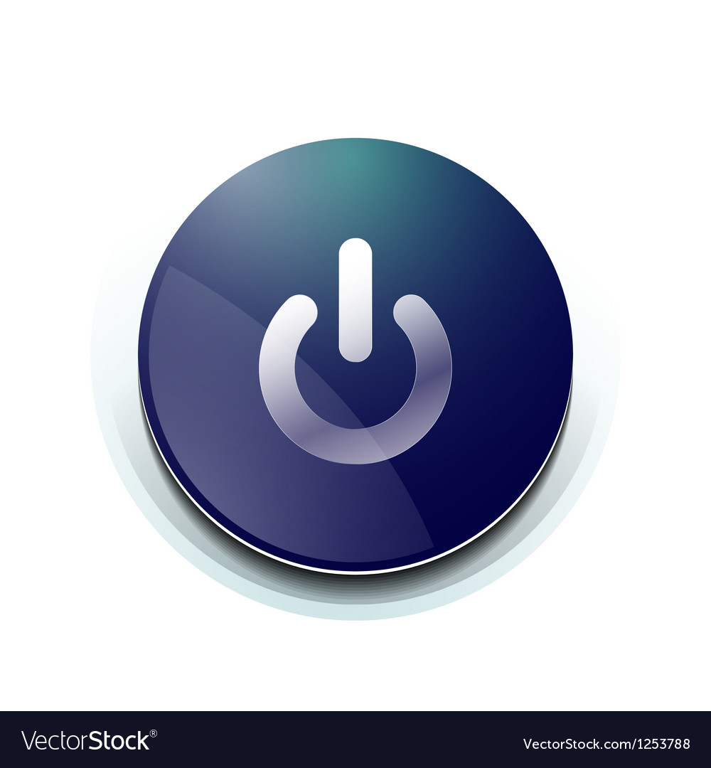 Blue power button design vector | Price: 1 Credit (USD $1)