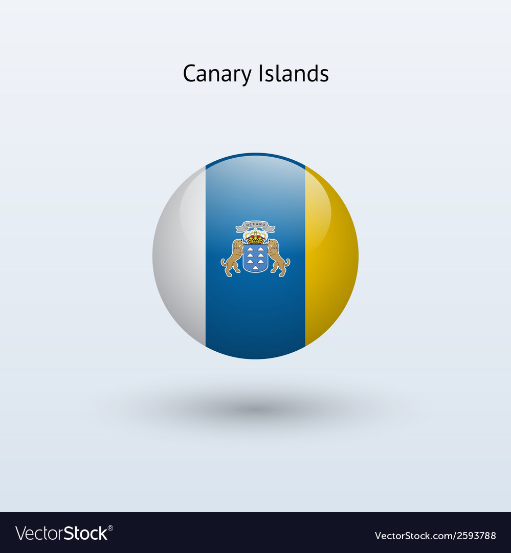 Canary islands round flag vector | Price: 1 Credit (USD $1)