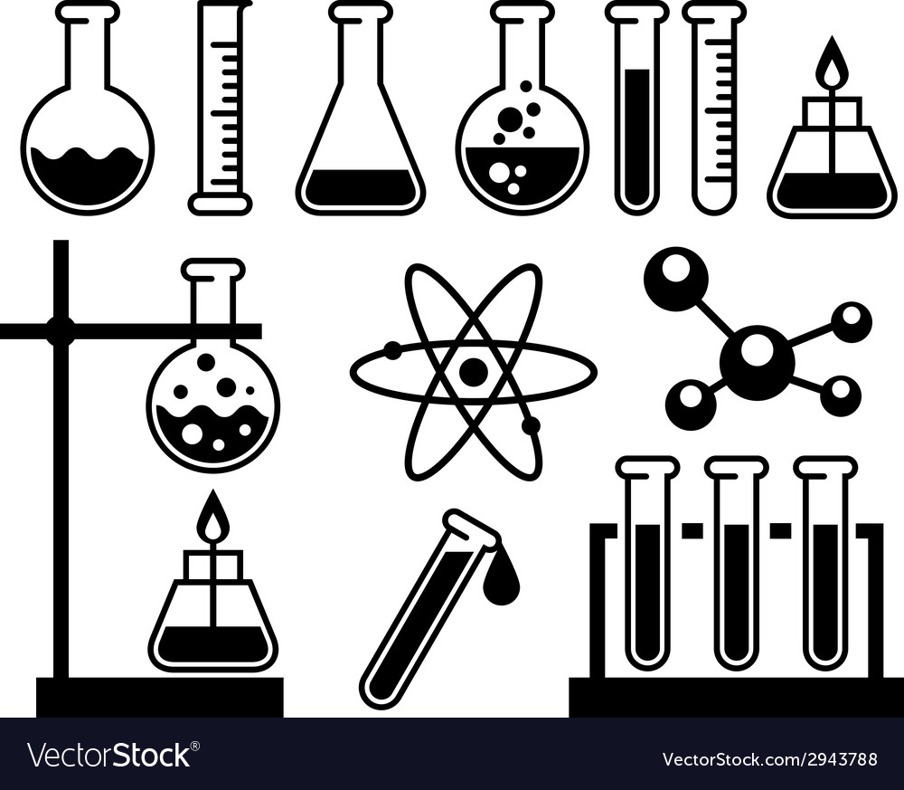 Chemical laboratory equipment vector | Price: 1 Credit (USD $1)