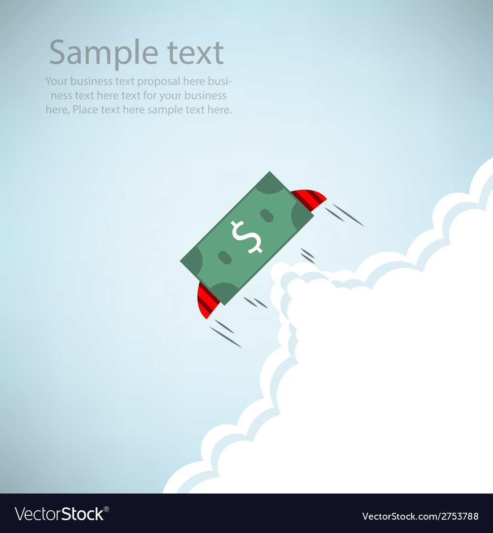 Dollar bank rocket flying with wings eps10 vector | Price: 1 Credit (USD $1)