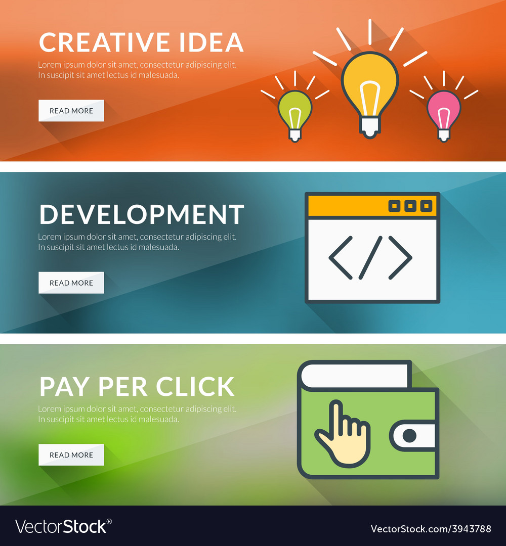 Flat design concept for creative idea development vector   Price: 1 Credit (USD $1)