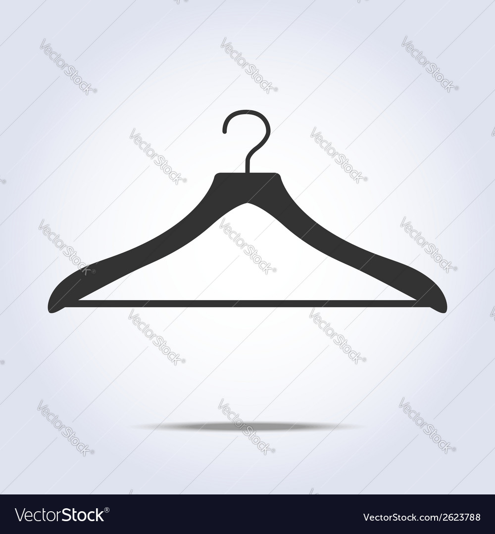 Hanger simple icon in vector | Price: 1 Credit (USD $1)